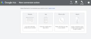 new conversion google ads