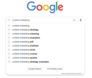 Google Search Results Suggestions